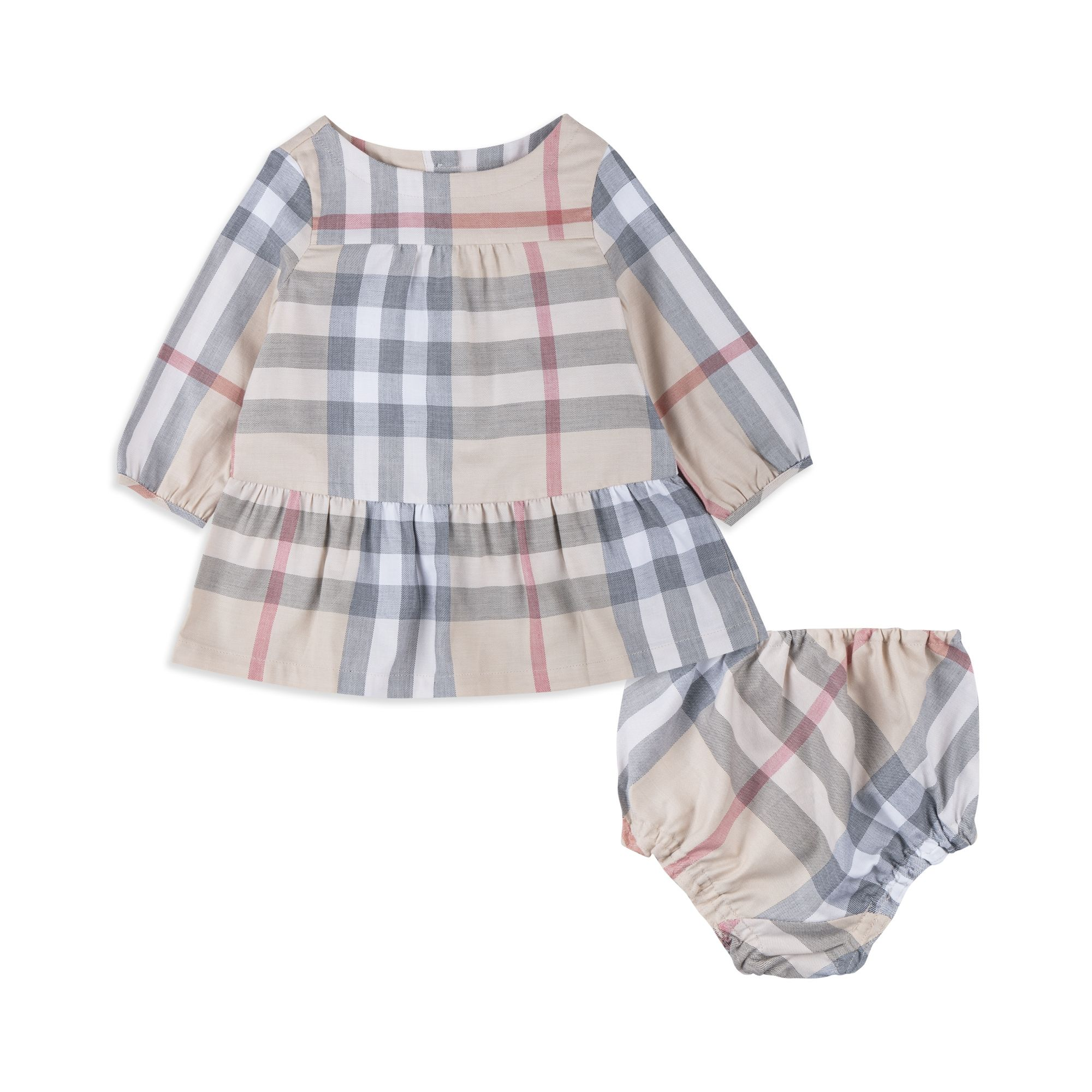 Baby Girls Kloey Dress & Bloomers Beige