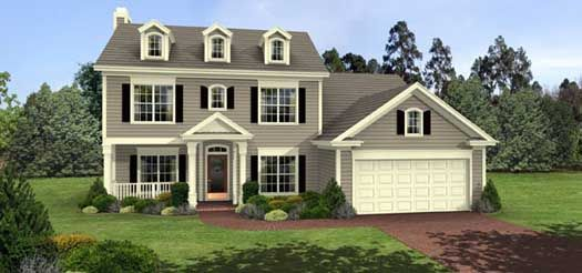 Colonial Style House Plans   1695 Square Foot Home , 2 Story, 3 Bedroom And  2 Bath, 3 Garage Stalls By Monster House Plans   Plan 4 138