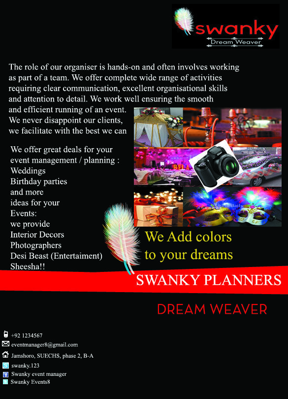 Brochure for Swanky event management company Event Manager - fresh blueprint events pictures