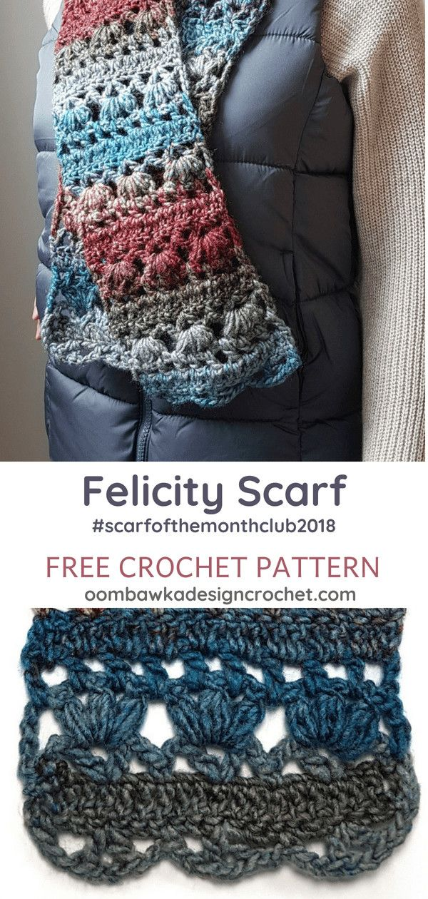 Felicity Scarf Pattern. Scarf of the Month Club 2018 August ...