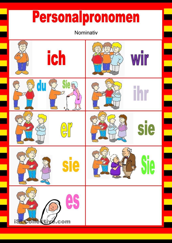 Willkommen auf Deutsch - Personalpronomen - Nominativ in 2018 ...