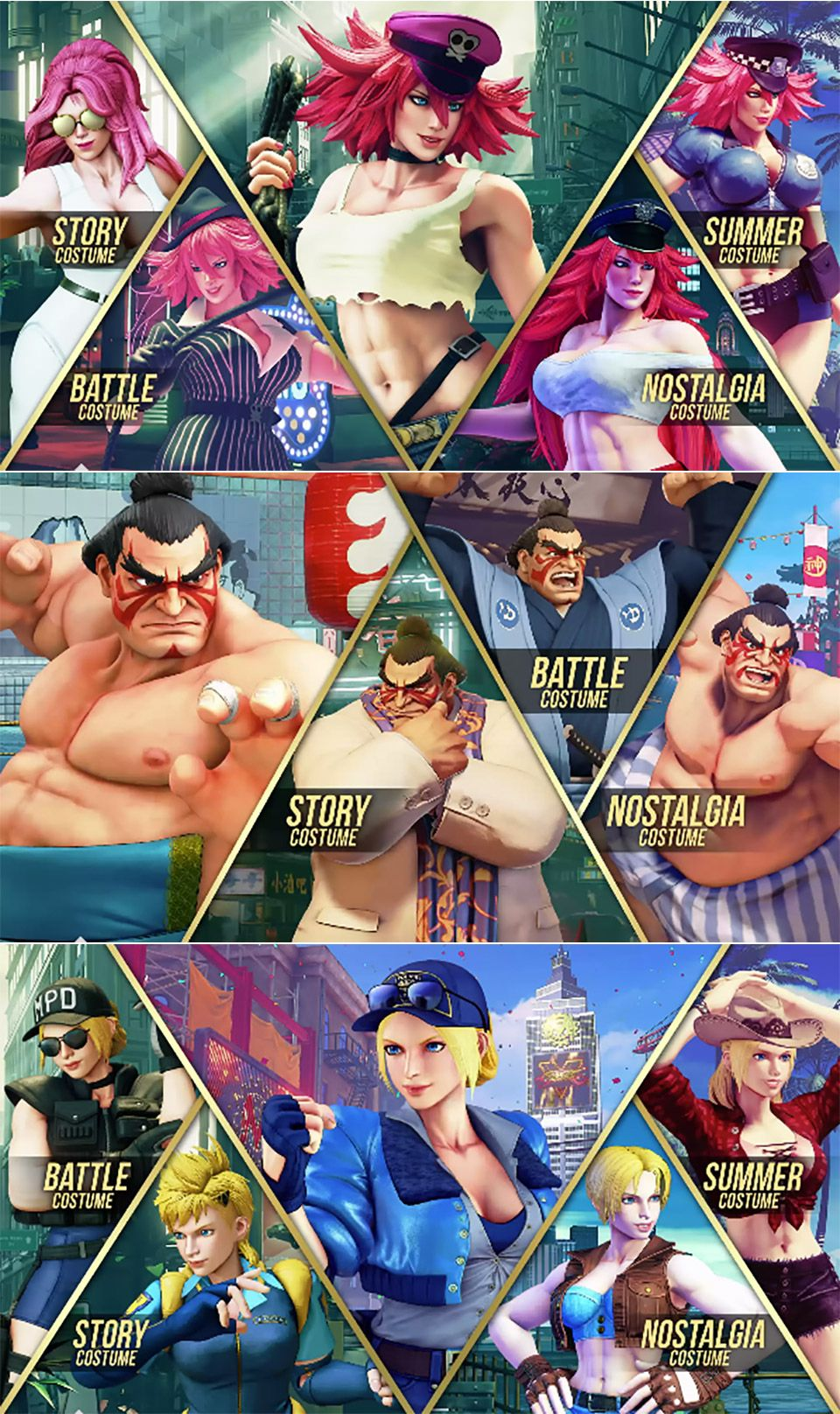 New Street Fighter V Trailers Preview E Honda Poison And Lucia