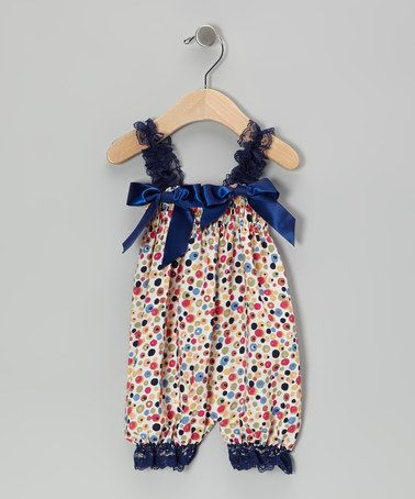 Take a look at this Navy Flower Bubble Romper - Infant & Toddler by Zuzu Petals on #zulily today!
