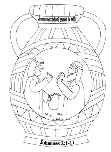 kleurplaten categorie jezus kruik water wijn