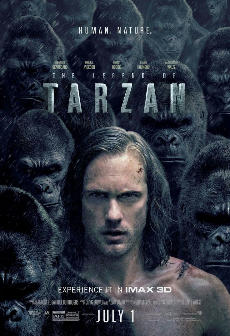 The Legend Of Tarzan Movie Poster Fantastic Movie Posters Scifi