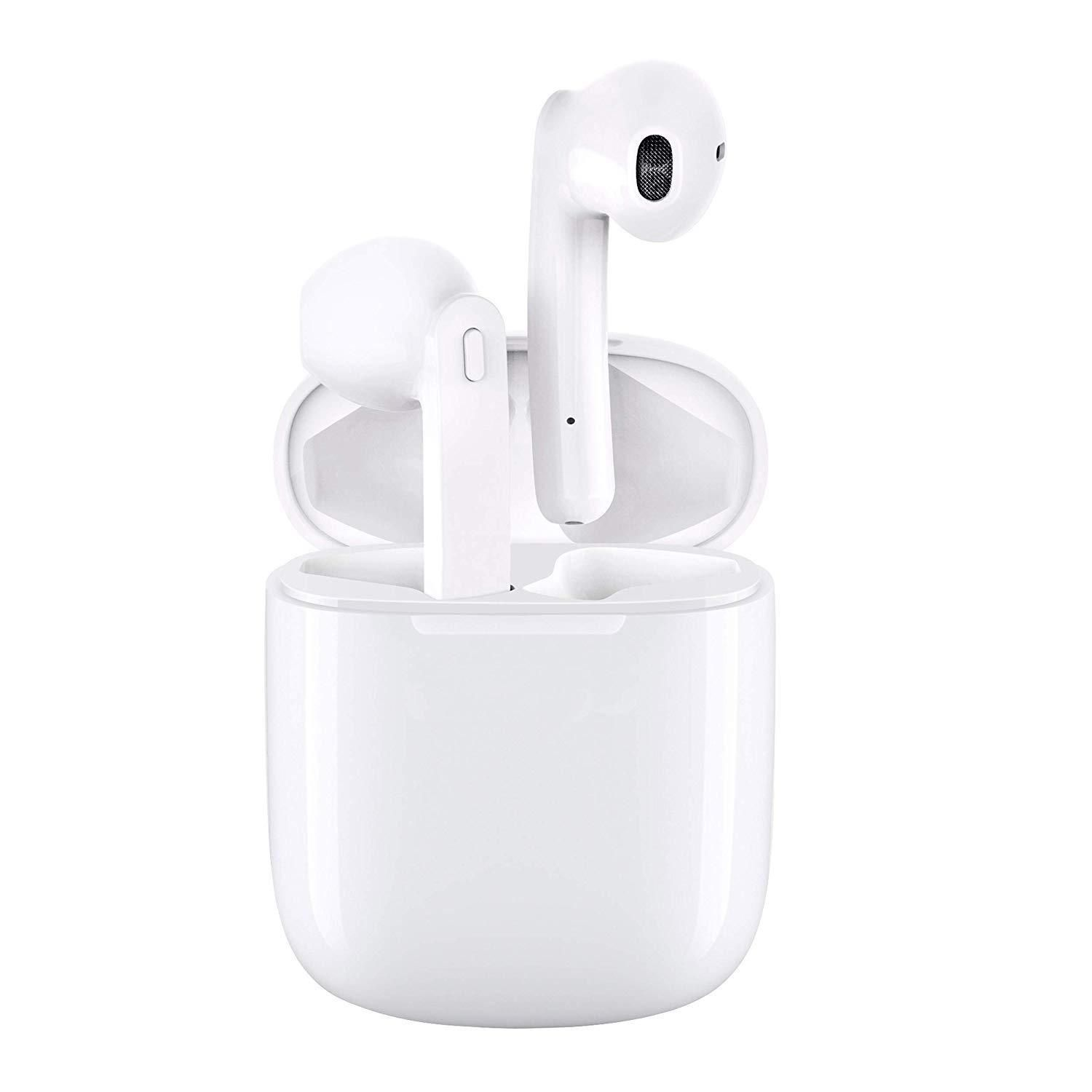 Wireless Earbuds Noise Canceling Sports 3d Stereo Headphones With 24 Hr Playtime Ipx6 Waterproof Pop Ups Auto Pairing Built In Binaural Mic Headset For And Wireless Earbuds Earbuds Stereo Headphones