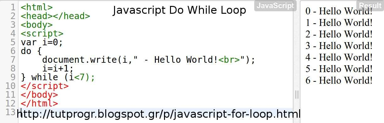 Javascript Do While Loop Programming Code Picture Coding