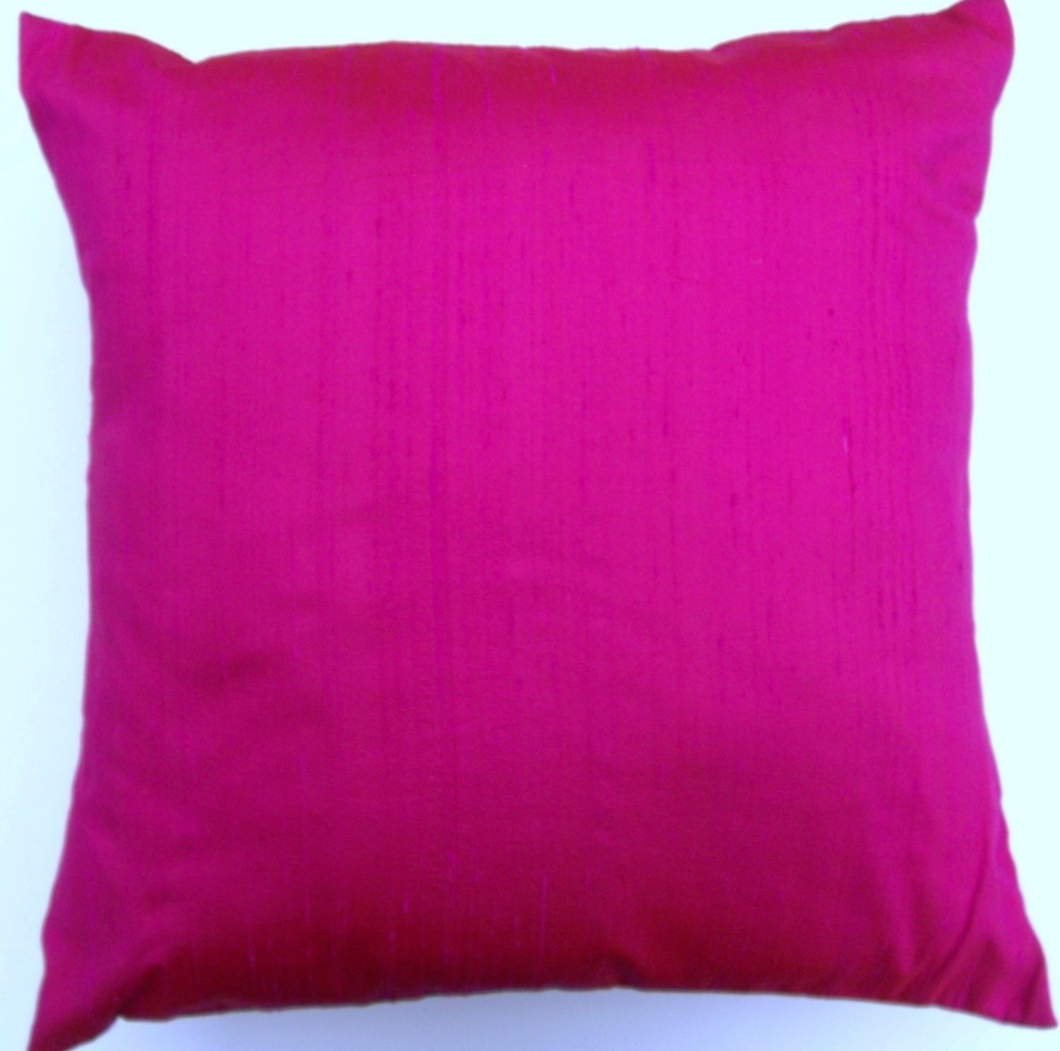 Hot Pink Silk Pillow Cover -- Silk Hottest Pink Throw Pillow ...