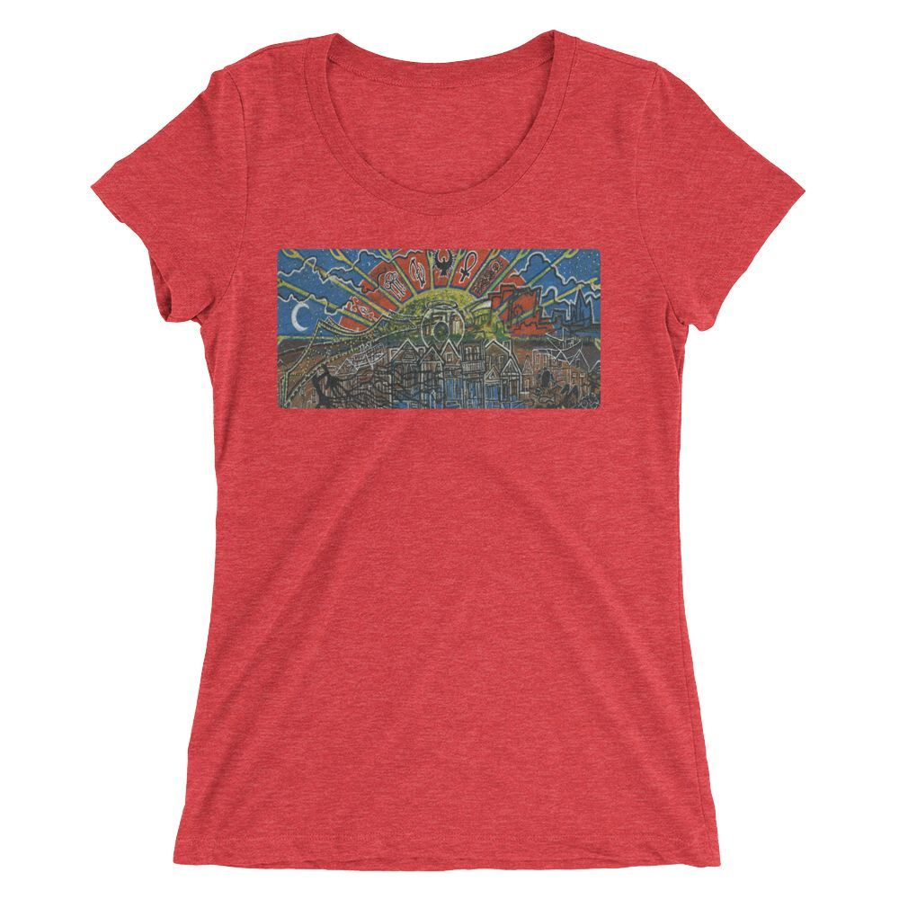 Deep Waters •Ladies' short sleeve t-shirt (form-fitting)