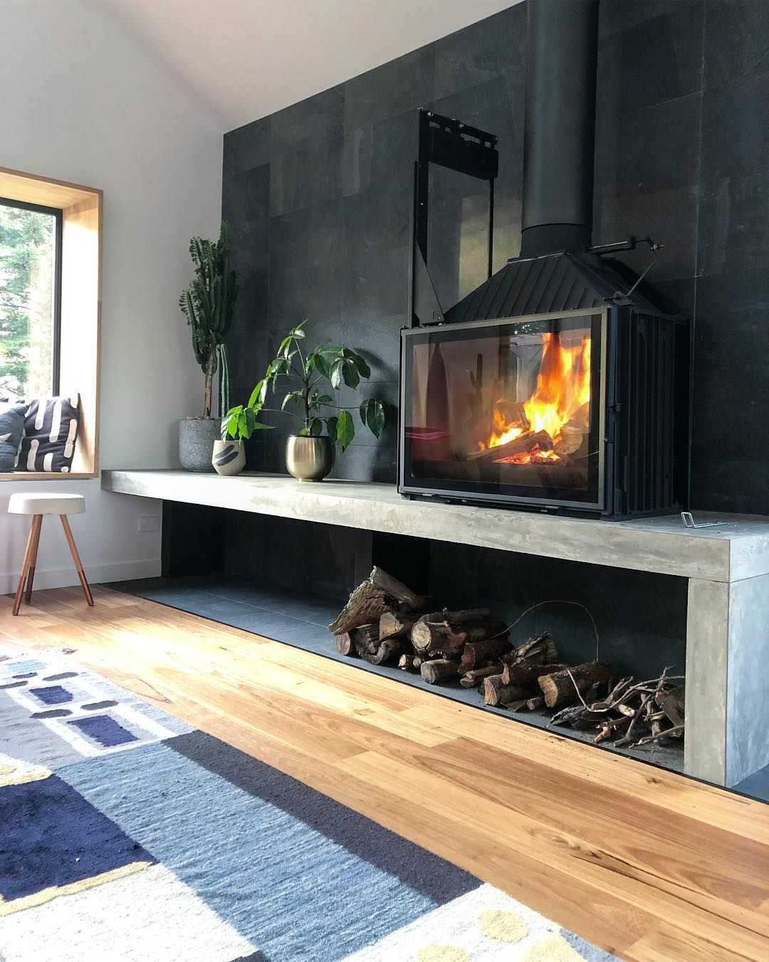 Interior Design On Instagram The Perfect Fire For These Cooler Nights Is A Cheminees Philippe A Freestanding Fireplace Home Fireplace Wood Stove Fireplace