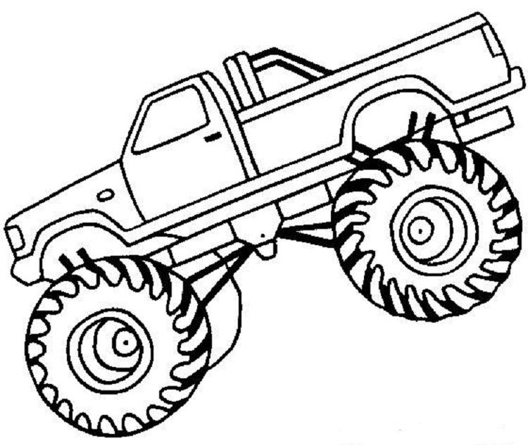 Truck Coloring Pages Pdf Monster Truck Drawing Monster Truck Coloring Pages Monster Trucks