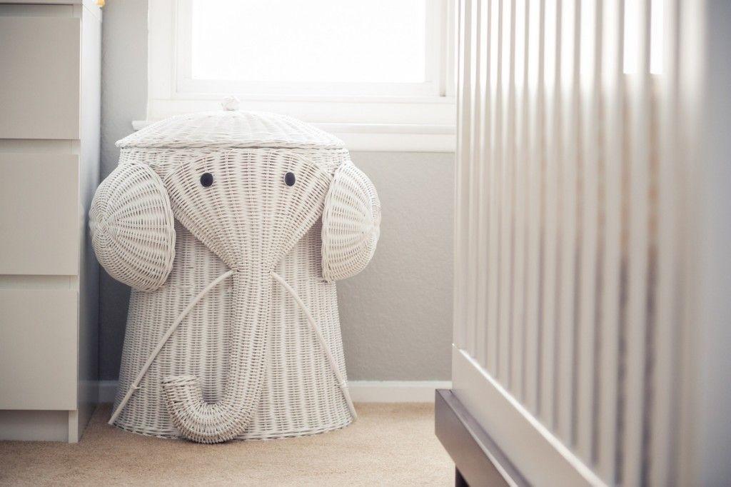 Modern Koala Cuteness White Nursery Elephant Nursery