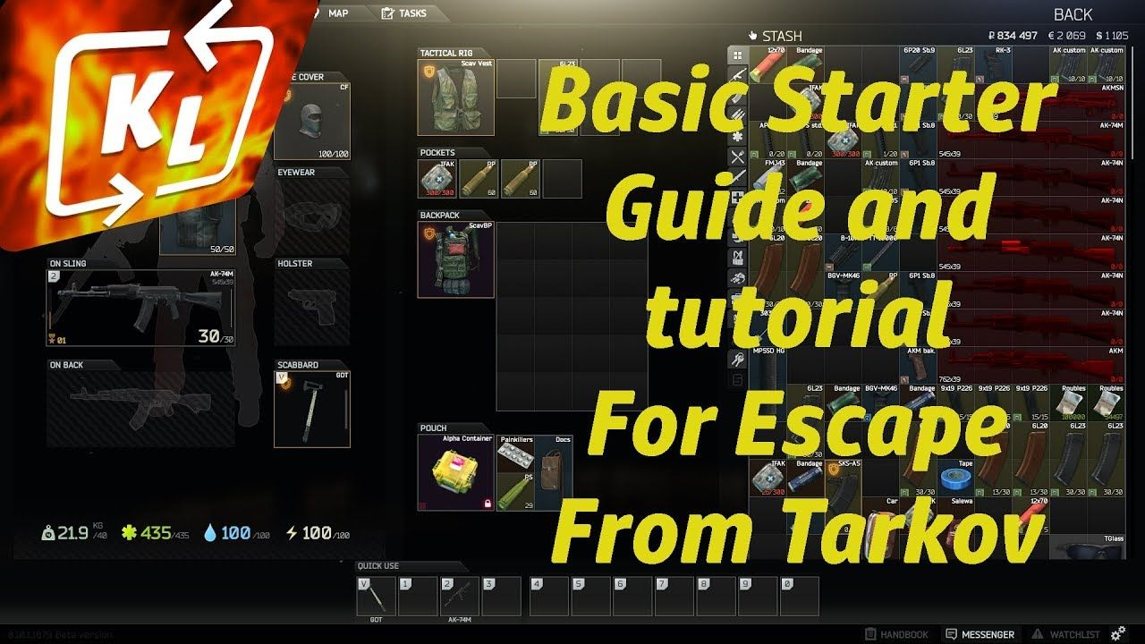 Escape From Tarkov Basic Tutorial 2020 Escape From Tarkov
