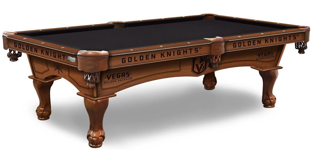 NHL Vegas Golden Knights Pool Table Comes In 8 Ft. Length. The Wood Cabinet