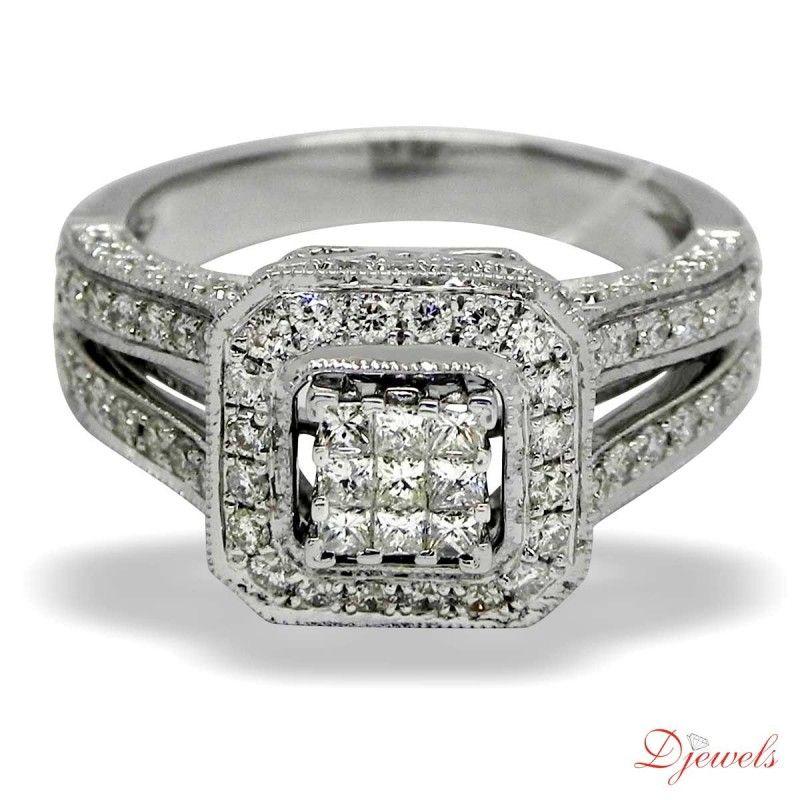 Online Diamond Ladies Ring Bullfinch at Djewelsorg Rs 77,335