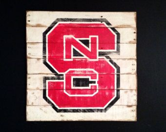 Nc State University Wall Art On Etsy A Global Handmade And Vintage Marketplace Etsy Wall Art Nc State State Signs