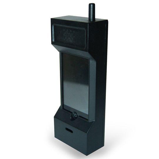 Capa celular criativa telefone antigo