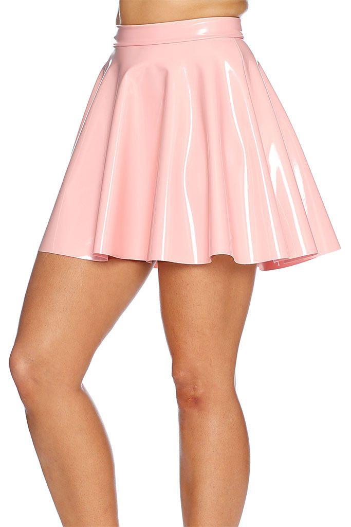 outlet store 97f79 f8145 Blush Pastel PVC Skater Skirt - LIMITED   Gotta Wear It ...