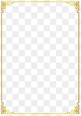 Chinese Clipart Gold Flat Border Golden Gradient Border Chinese Style Hollow Frame Gold Flat Border Cla Page Borders Design Gold Border Design Clip Art Borders