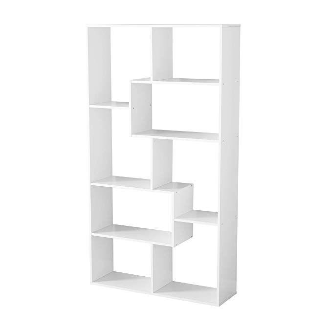 Amazon Com Mainstays Home 8 Shelf Wood Bookcase White Gateway