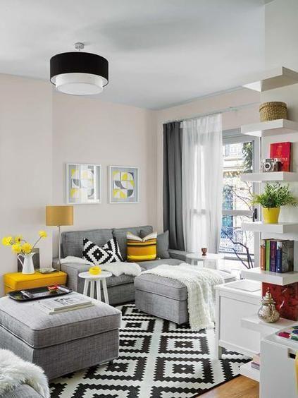 Salon decoracion sofa amarillo ile ilgili g rsel sonucu - Decoracion salon amarillo ...