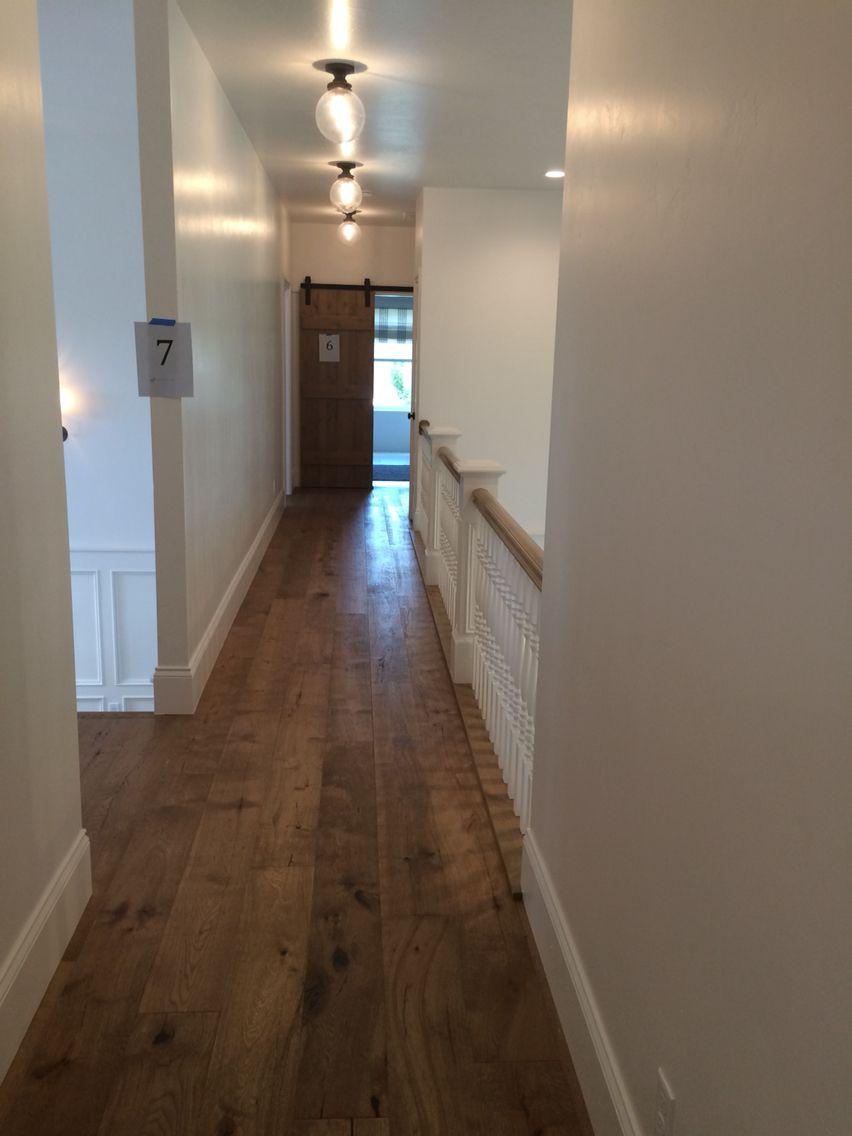 Hardwood floor hallway