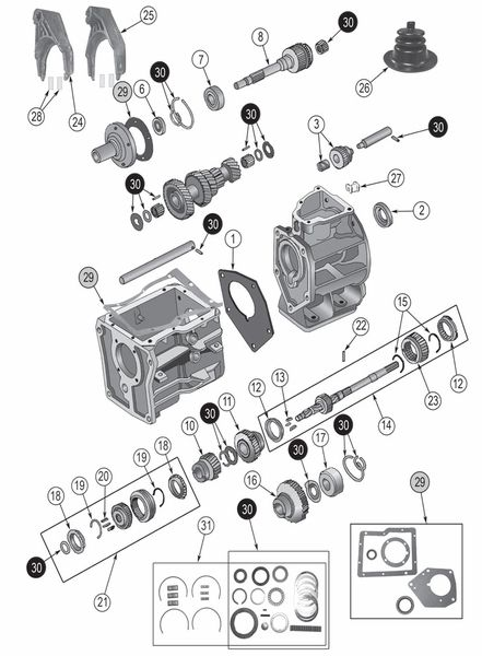 transmission borg-warner sr4 exploded view diagram the borg warner sr4  transmission was a standard shift, four-speed transmission found in 1980 to  1981 jeep