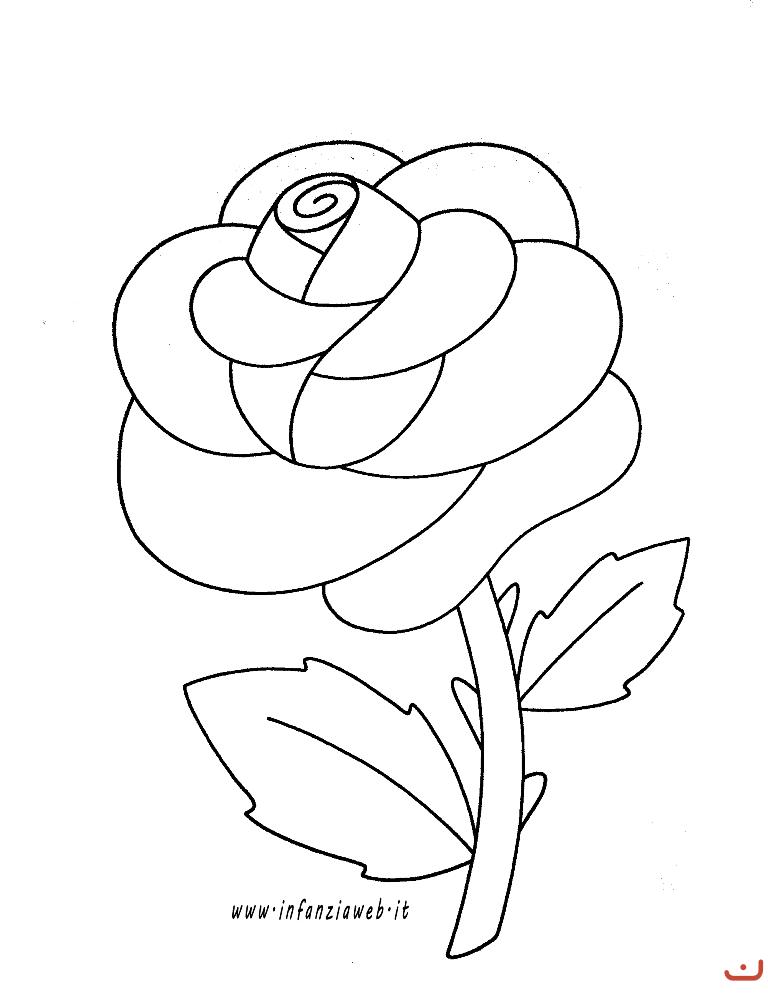 Risultati Immagini Per Rosa Da Colorare Per Bambini Disegno