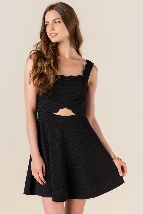Clarice Scalloped Cut Out Dress Dresses Pinterest Dresses