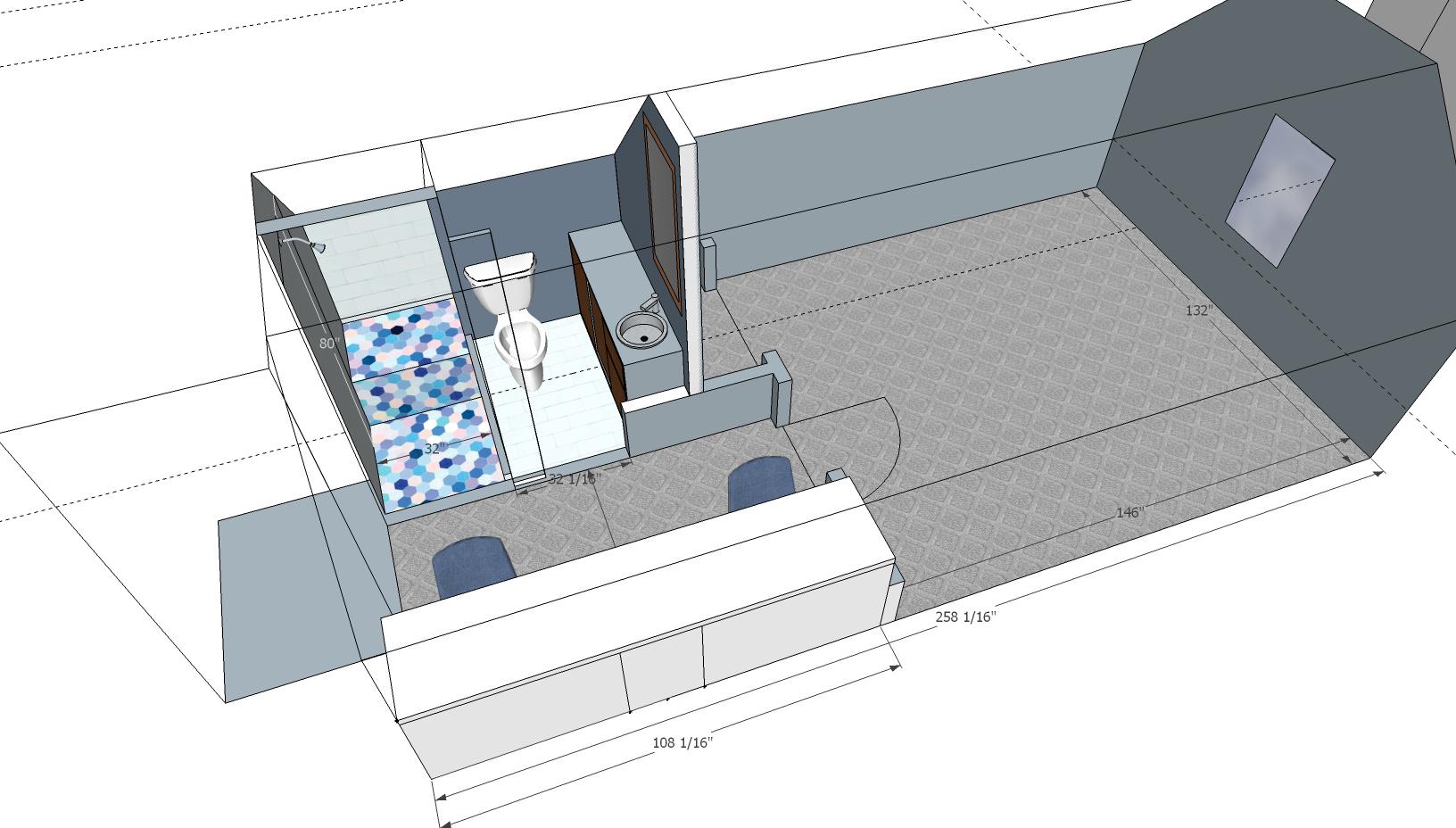 Adding A Bathroom To Over Garage Bonus Room Http Imgur Com A Drisl Add A Bathroom Bonus Room Stained Concrete