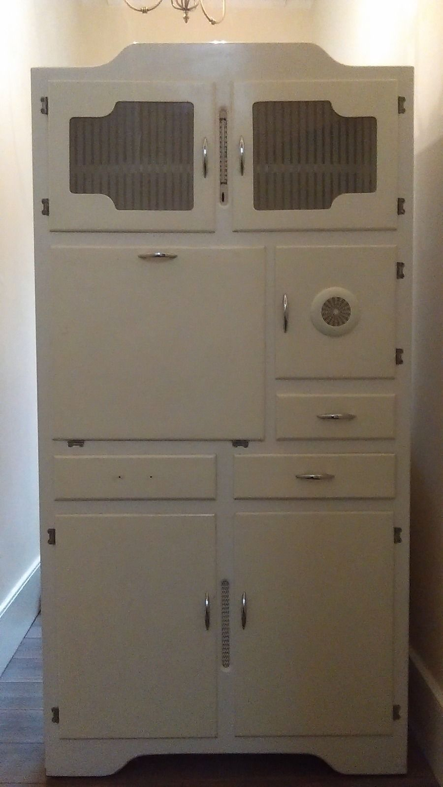 Vintage 1960 S Kitchen Cupboard Larder Kitchenette Vintage Pantry Vintage Kitchen Cabinets Kitchen Cupboards