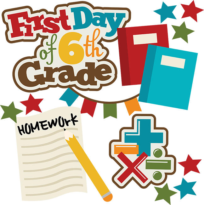 First Day Of 6th Grade SVG school svg collection school