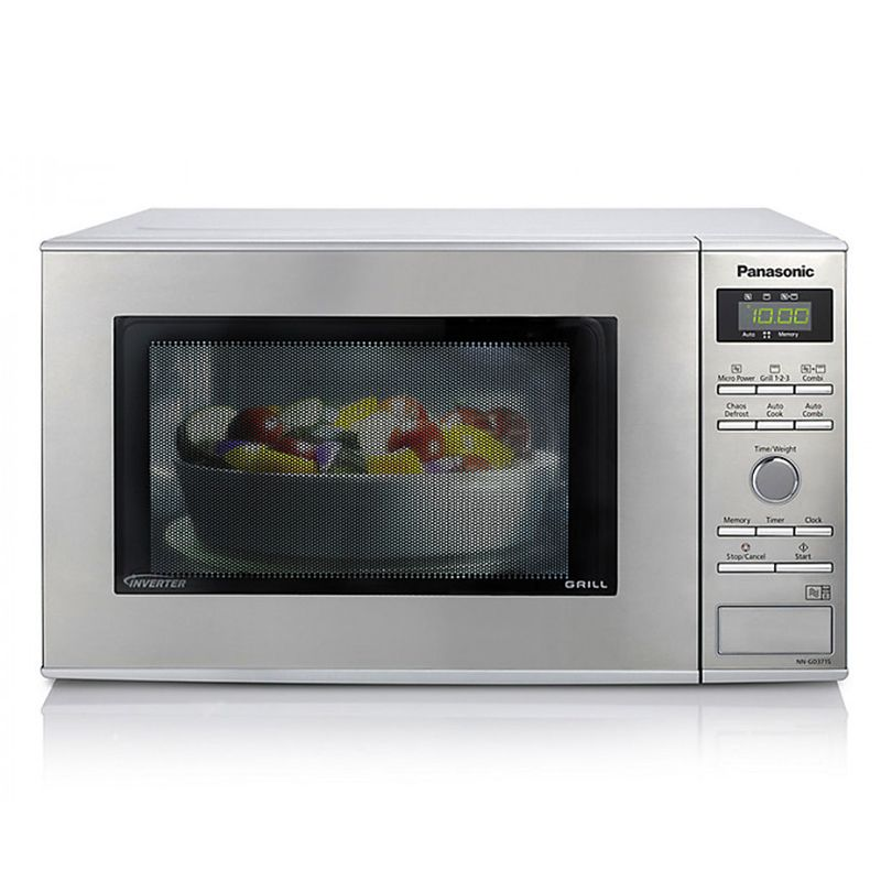 1000watts Compact Microwave Grill Stainless Steel Panasonic Nn Gd37hsbpq Fits Easily Into