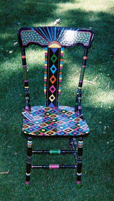 painted chair proyectos que intentar pinterest stuhl bemalte st hle und bunte st hle. Black Bedroom Furniture Sets. Home Design Ideas