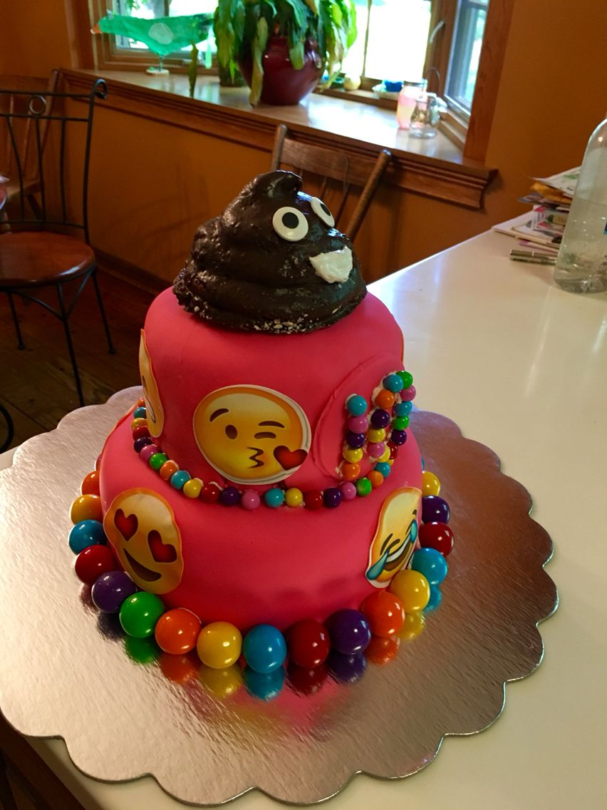 Stupendous Emoji Cake Cakes I Have Actually Made Emoji Cake Camping Personalised Birthday Cards Cominlily Jamesorg