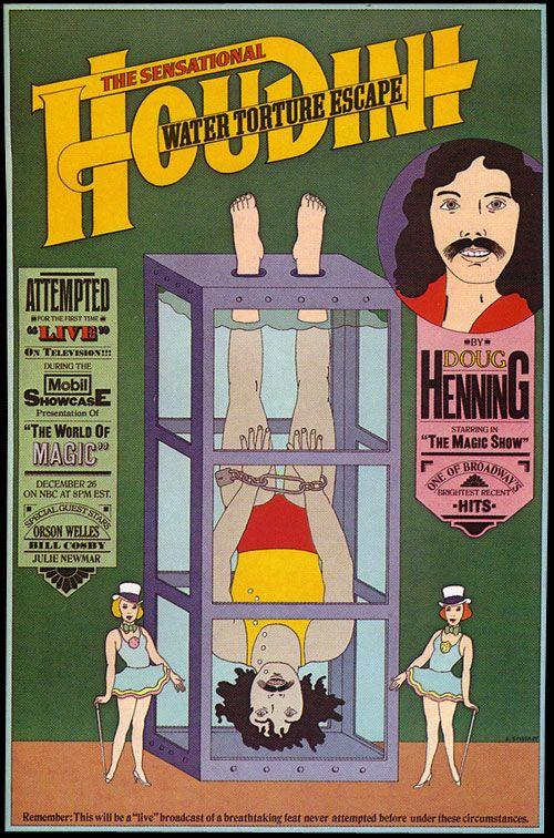 Push Pin Studio, The Sensational Houdini Water Torture Escape, 1982