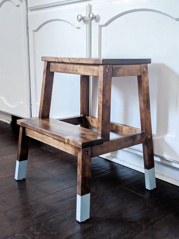 Einen Ikea Tritthocker Hubsch Machen Ikea Step Stool Step Stool Furniture