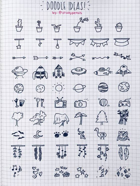 25 Easy Doodle Art Drawing Ideas For Your Bullet Journal #Art #Journal #Journal