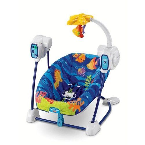 Bouncer Fisher Price Ocean Wonders Deep Blue Sea Spacesaver