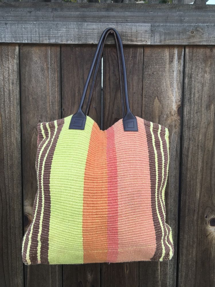 Dash Albert Rug Company Handwoven Tote Bag Shoulder Tapestry Travel Ebay