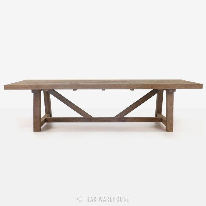 Teak Warehouse | Trestle Table (Reclaimed Teak) | monika | Pinterest ...