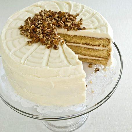 White Chocolate Layer Cake White chocolate cake with cream cheese