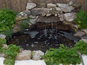Small preformed ponds and waterfalls liner pond for Plastic pond tub