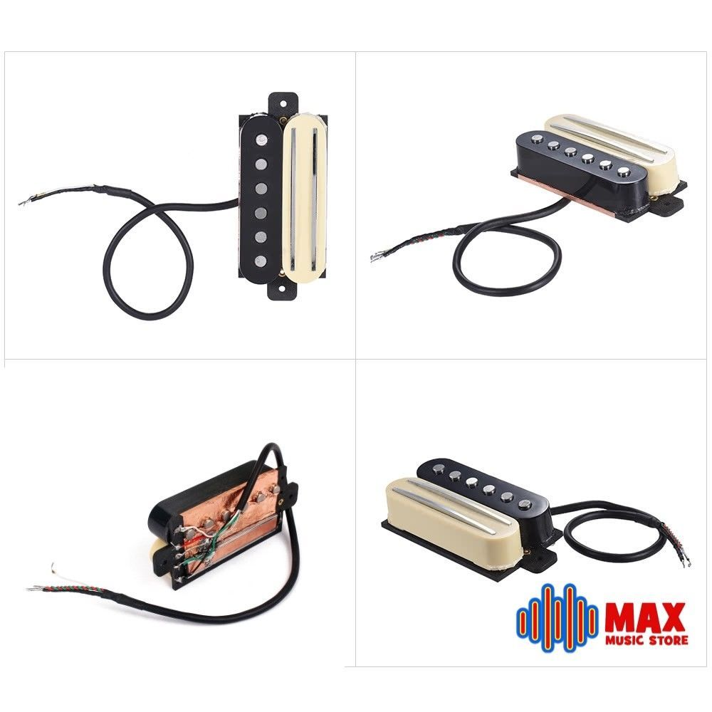 humbucker pickup dual rail + alnico 5 single coil copper shielded coil  tapping #unbranded #pickups