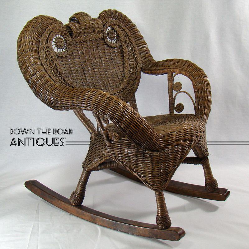 Victorian Wicker Child's Rocking Chair - 1910