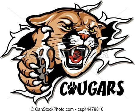 vector cougars mascot stock illustration royalty free rh pinterest com Tiger Baseball Clip Art Tiger Baseball Clip Art