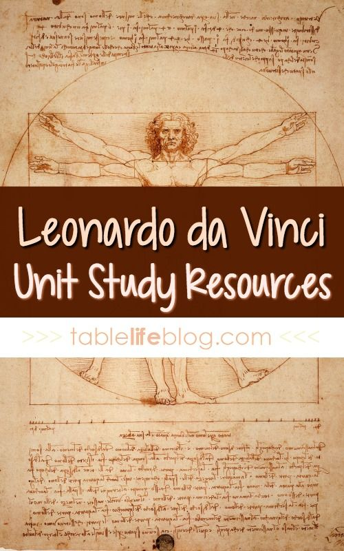 Meeting the Master Artists: Leonardo da Vinci Unit Study Resources