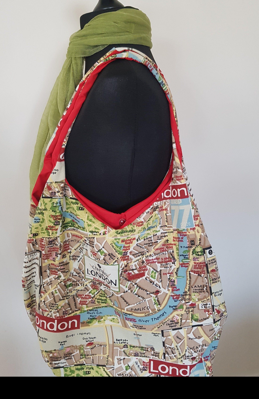 858cb39147 London Map Bag from Anita Rose Designs  etsy  bagsandpurses  bohemianbag   womenslargebag