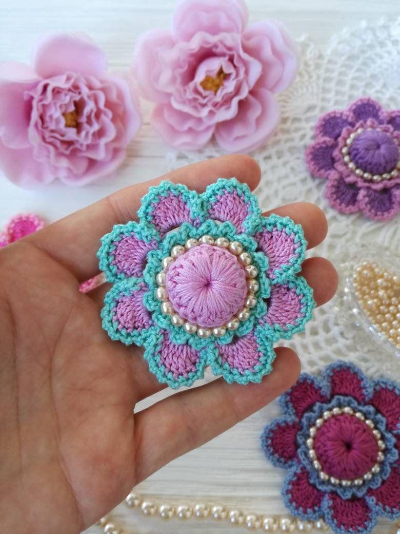 Crochet flower PATTERN en 2018   so sweet ctovhet   Pinterest   Flor ...