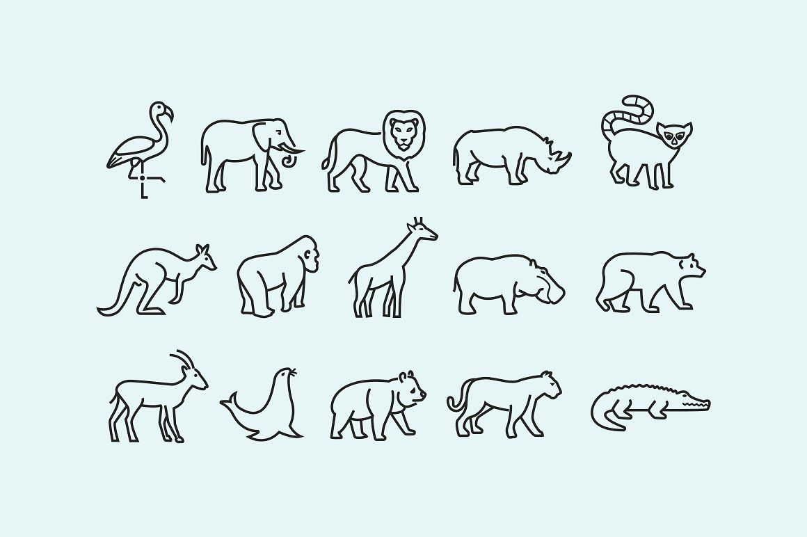 15 Zoo Animal Icons Animal Icon Zoo Animals Zoo
